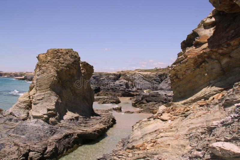 Les falaises de Porto Covo (Portugal) images libres de droits