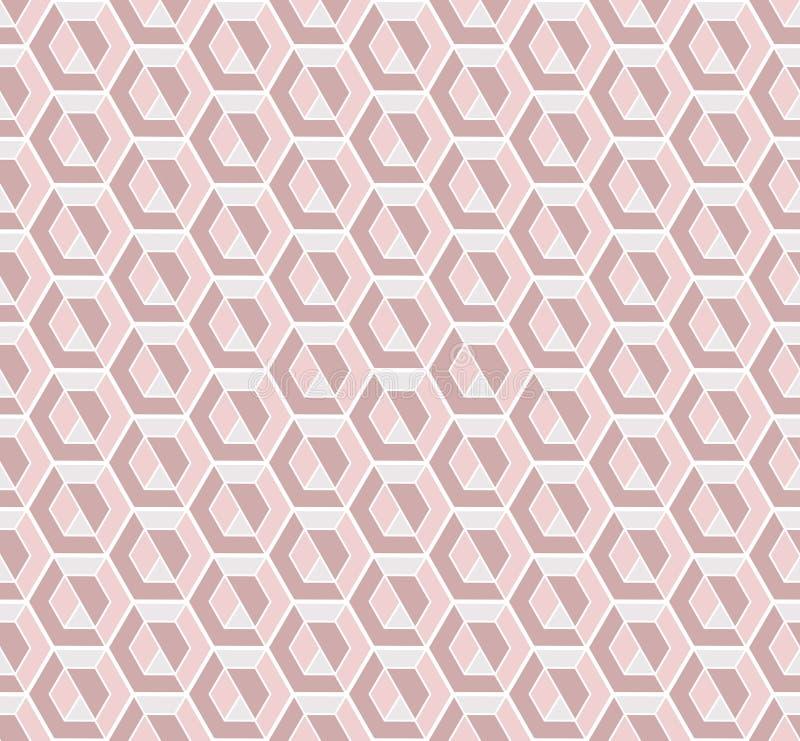 Les fausses pierres roses dirigent le modèle sans couture de répétition illustration stock