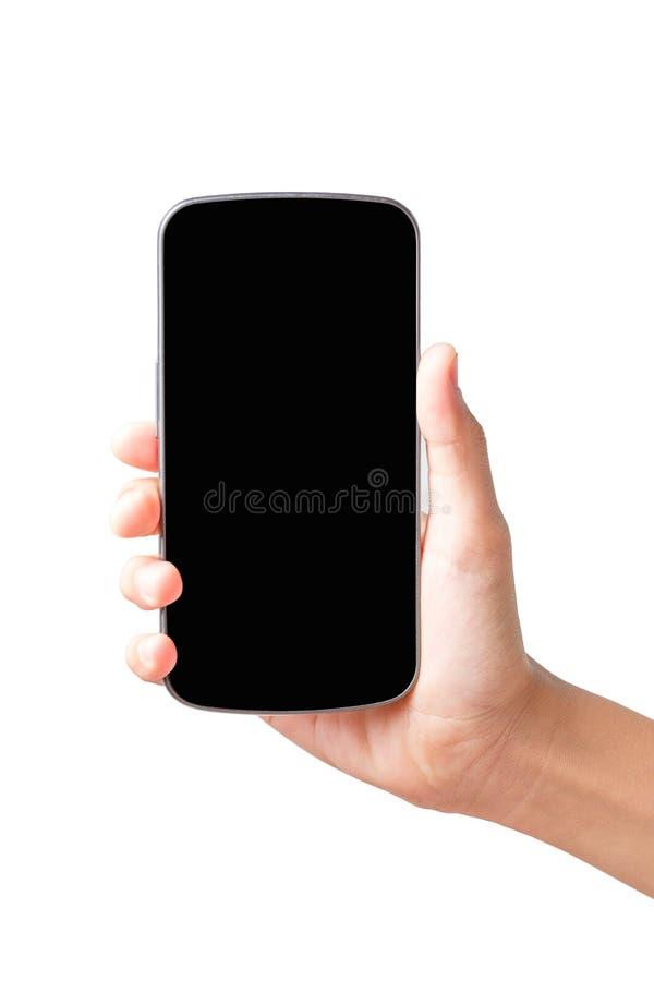 Les femmes remettent et téléphone intelligent images stock