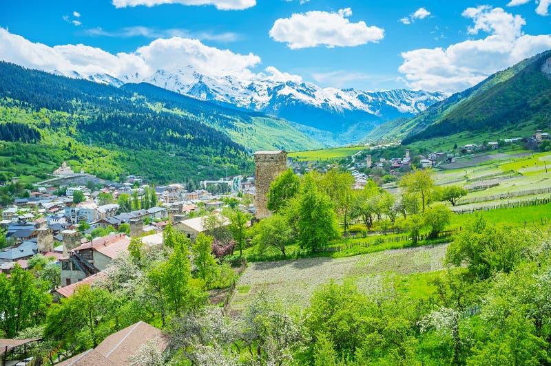 Les fermes de Svaneti images stock