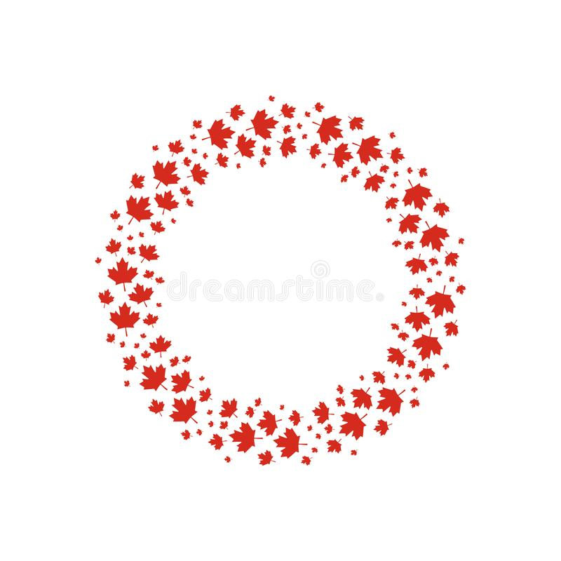 Les feuilles d'érable rouge de vecteur tressent pour la conception de jour de Canada illustration libre de droits