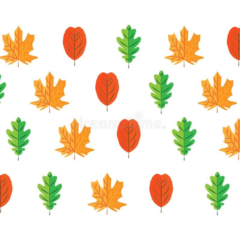 Les feuilles d'automne ont plac?, d'isolement sur le fond blanc style plat de bande dessin?e simple, illustration de vecteur illustration stock