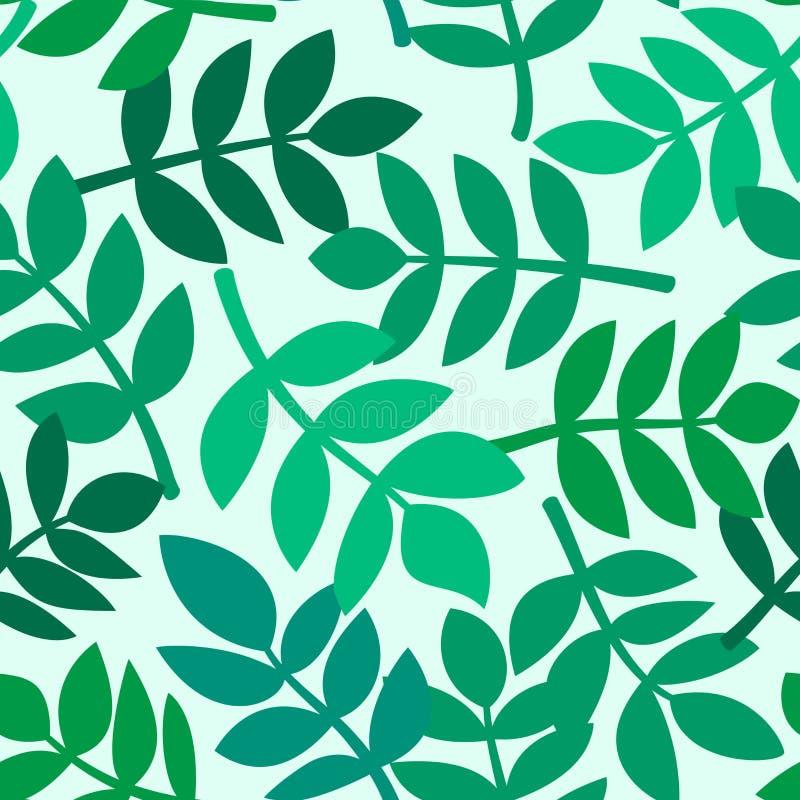 Les feuilles des plantes tropicales, dirigent le modèle sans couture illustration libre de droits