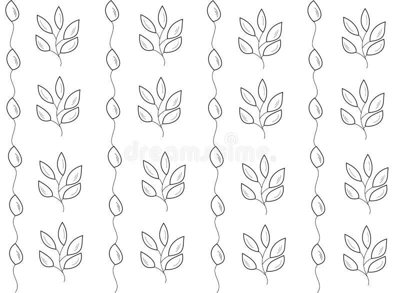 Les feuilles dirigent le mod?le sans couture ornement pour le tissu, l'emballage et les produits textiles illustration libre de droits