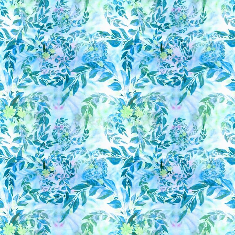 Les feuilles et les branches sont des usines d'une composition décorative, de parfumerie et de cosmétique Configuration sans join illustration libre de droits