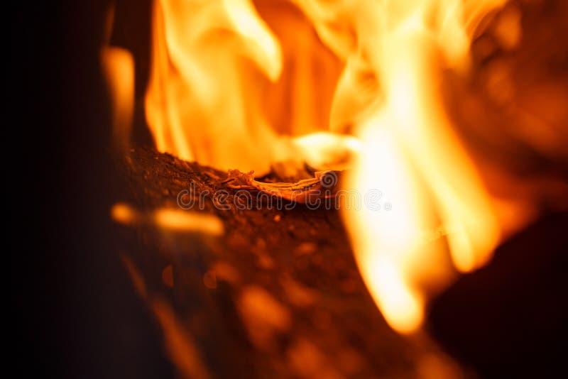 Les feux rouges et oranges brûlent images libres de droits