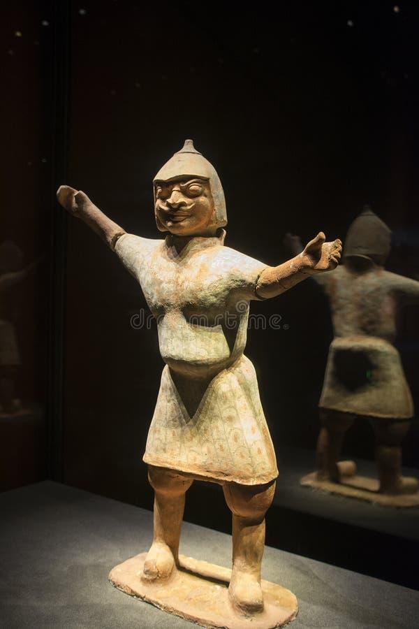 Les figurines antiques de guerrier, porcelaine photos libres de droits