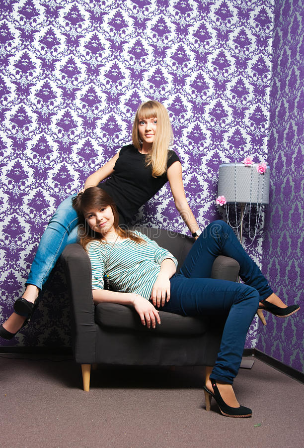 Les filles à la mode photo libre de droits