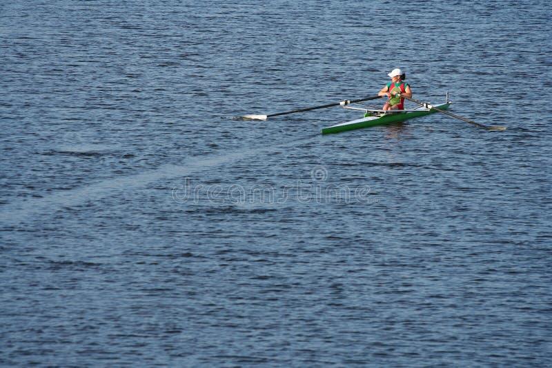 Les finales dans l'aviron. photographie stock libre de droits