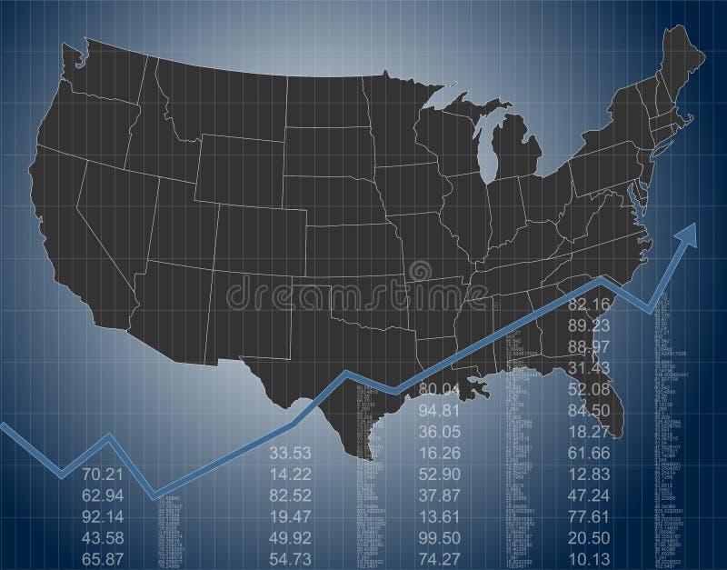 Les finances et l'économie des Etats-Unis illustration de vecteur