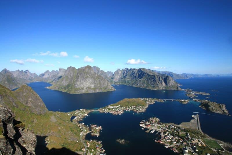Les fjords de Lofoten photos libres de droits