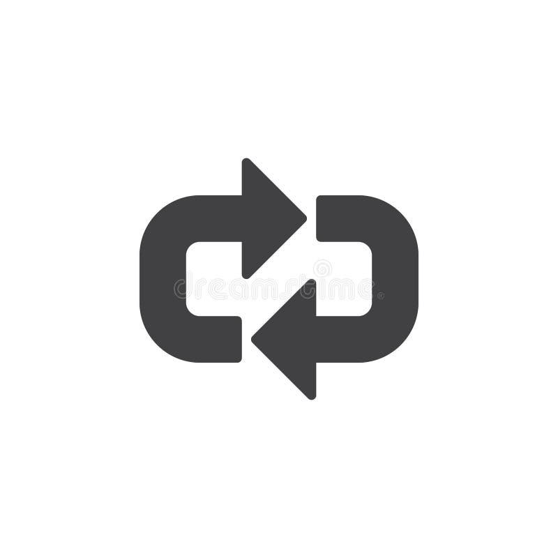 Les flèches autour de l'icône dirigent, signe plat rempli, pictogramme solide d'isolement sur le blanc illustration de vecteur