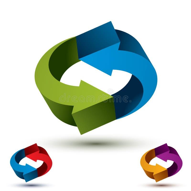 Les flèches soustraient le symbole de boucle, templat conceptuel de pictogramme de vecteur illustration libre de droits
