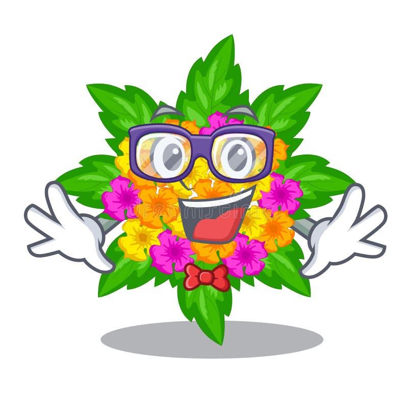 Les fleurs de lantana de connaisseur collent sur la tige de bande dessinée illustration de vecteur