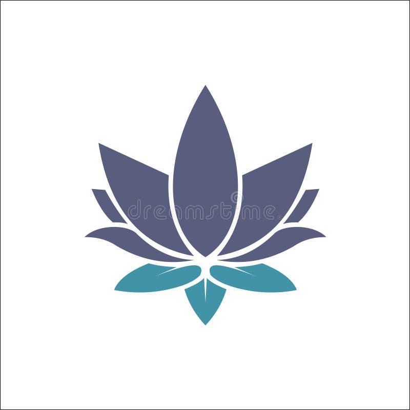 Les fleurs de Lotus de vecteur de beaut? con?oivent l'ic?ne de calibre de logo illustration libre de droits