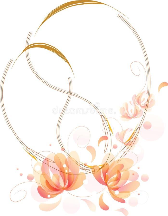 Les fleurs fantastiques relâchent des trames illustration stock