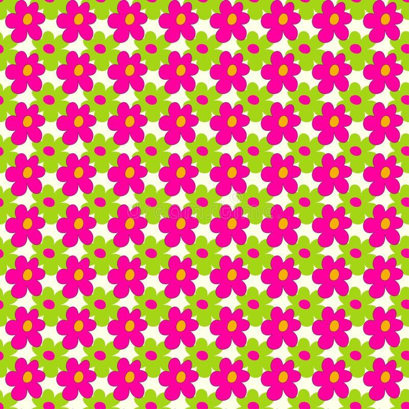 Les fleurs roses et vertes sur un modèle sans couture de fond clair dirigent l'illustration illustration libre de droits