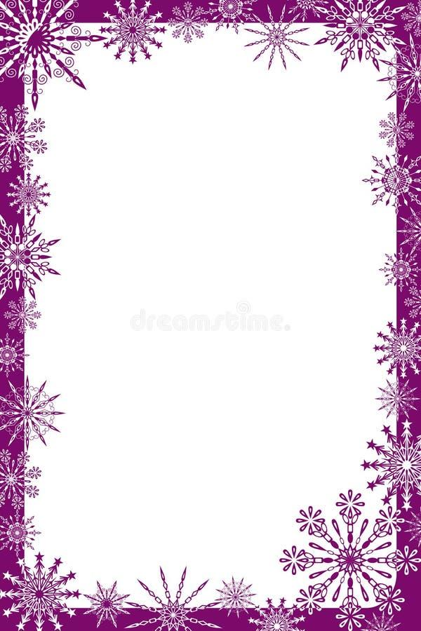 Les flocons de neige encadrent, dirigent illustration libre de droits