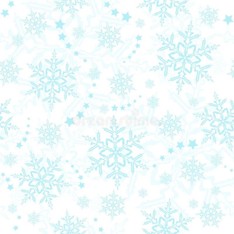 les flocons de neige sans joint wallpaper l'hiver illustration libre de droits