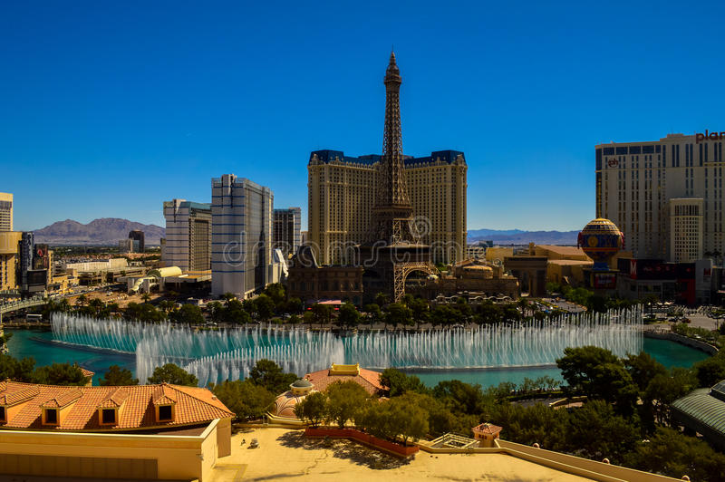 Les fontaines renversantes de Bellagio, Las Vegas, Nevada, Etats-Unis photos stock