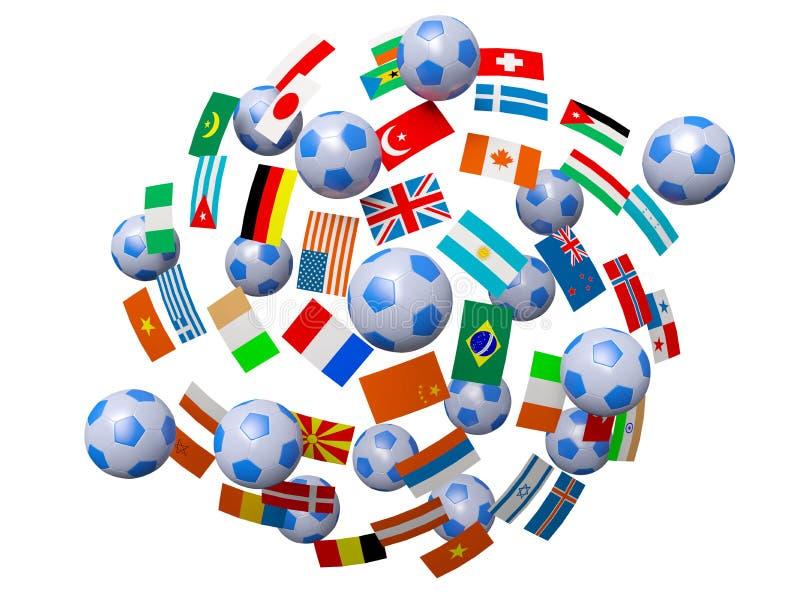 Les football et indicateurs illustration stock