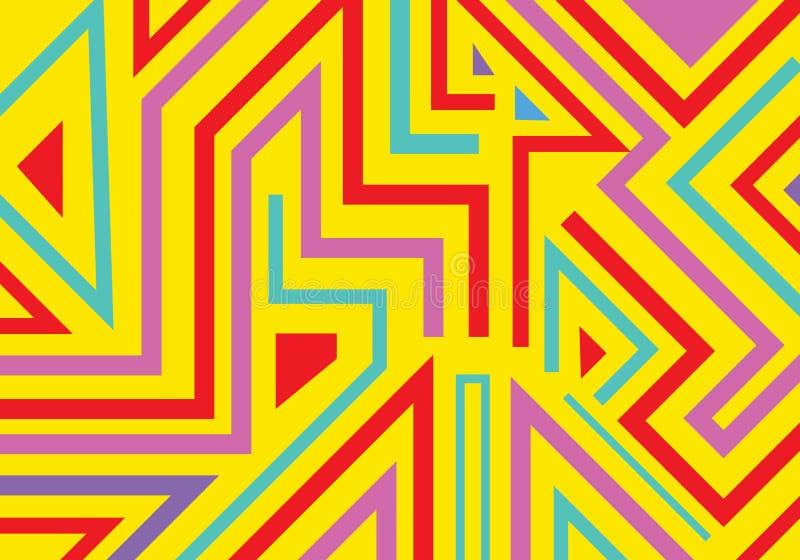 Les formes et les lignes géométriques de graffiti de résumé modèlent le style d'art de bruit de fond illustration stock