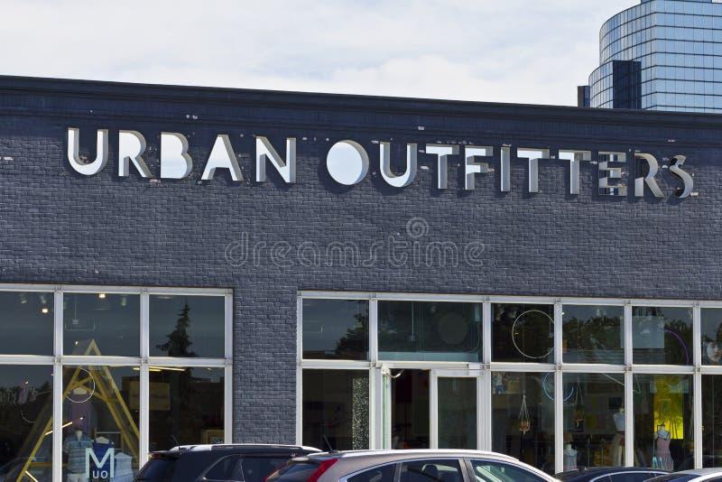 Les fournisseurs urbains vendent l'emplacement au détail I image stock