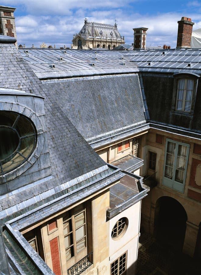 Les Frances de palais de Versailles de cour de reine images libres de droits