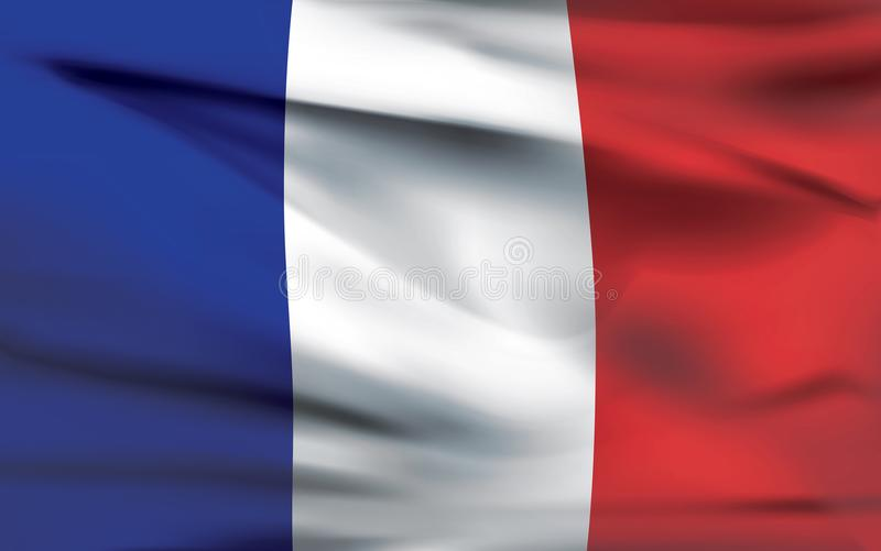 Les Frances marquent le vecteur photorealistic de ondulation illustration libre de droits