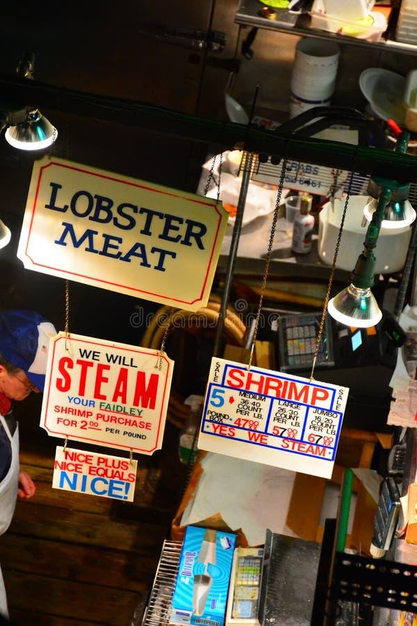 Les fruits de mer de Faidley du marché de Lexington photographie stock libre de droits