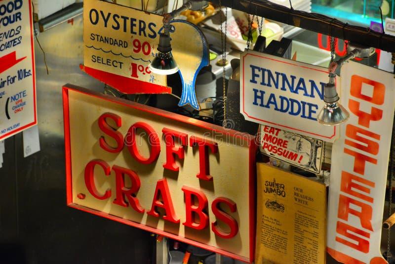 Les fruits de mer de Faidley du marché de Lexington images libres de droits
