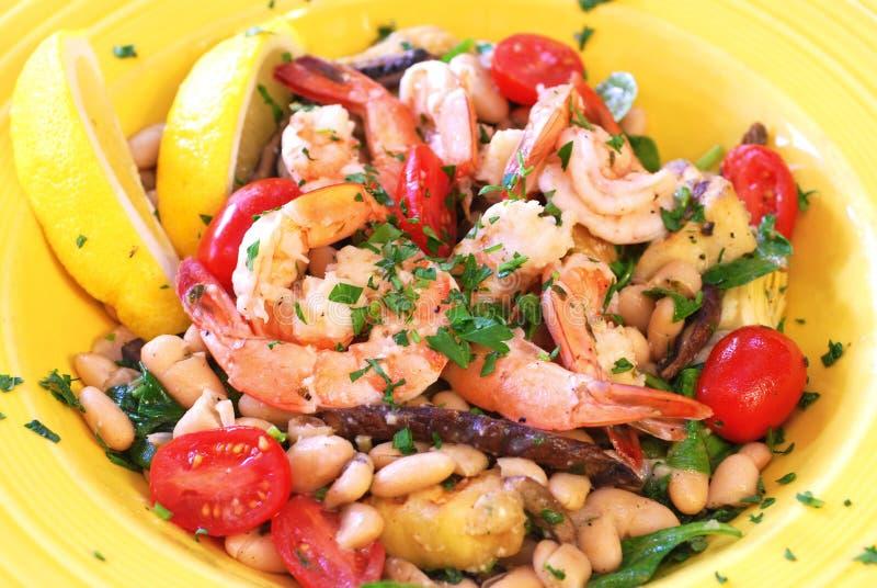 Les fruits de mer méditerranéens font sauter photographie stock