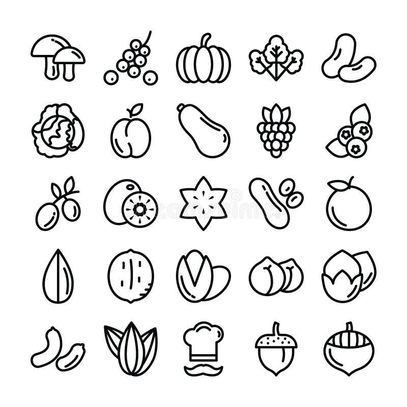 Les fruits et légumes emballent illustration libre de droits