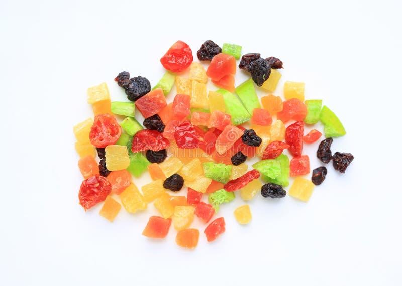 Les fruits secs se mélangent d'isolement sur le fond blanc Vue sup?rieure photos libres de droits