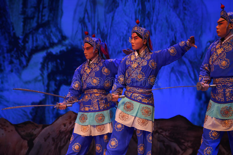 """Les généraux de femmes de Pékin Opera"""" de soldat de dynastie de chanson du  de € de Yang Familyâ photographie stock libre de droits"""