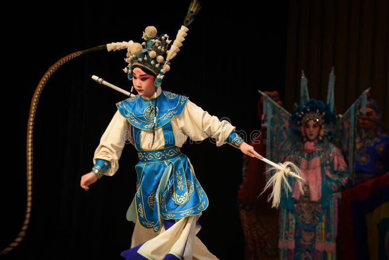 """Les généraux de femmes de queue-Pékin Opera"""" de faisan du  de € de Yang Familyâ images libres de droits"""