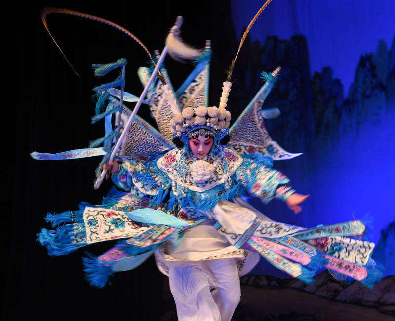 """Les généraux féminins de femmes de Mu Guiying- Pékin Opera"""" de maréchal du  de € de Yang Familyâ photographie stock"""