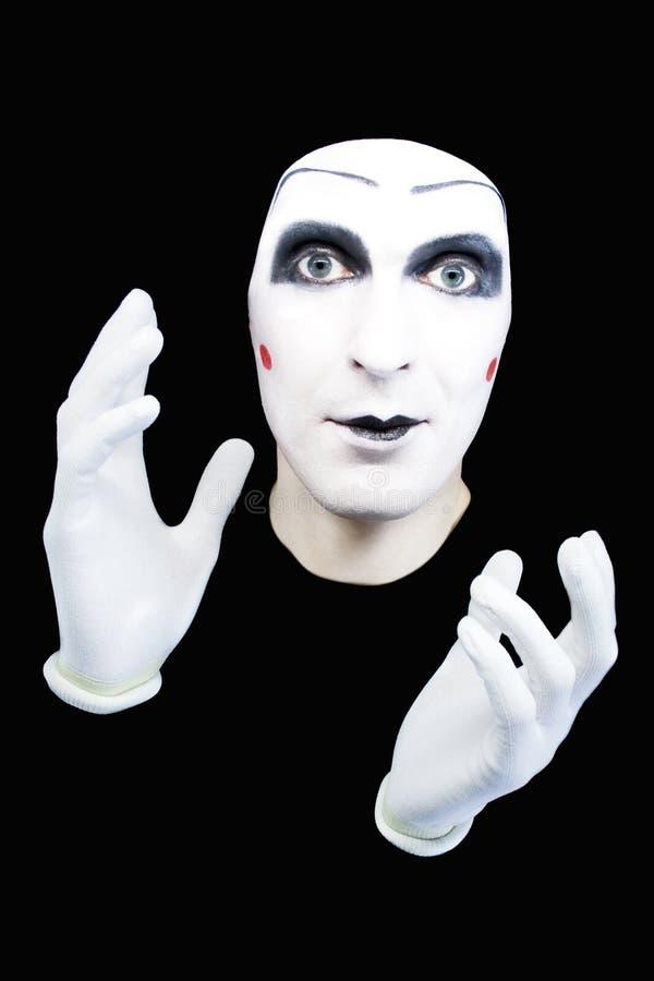 les gants gais miment le blanc de verticale photo libre de droits
