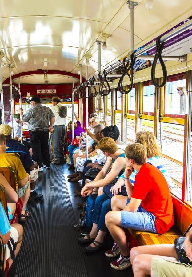 Les gens l 39 int rieur d 39 un tramway la nouvelle orl ans image stock ditorial image du ligne - Horaire tram orleans ligne a ...