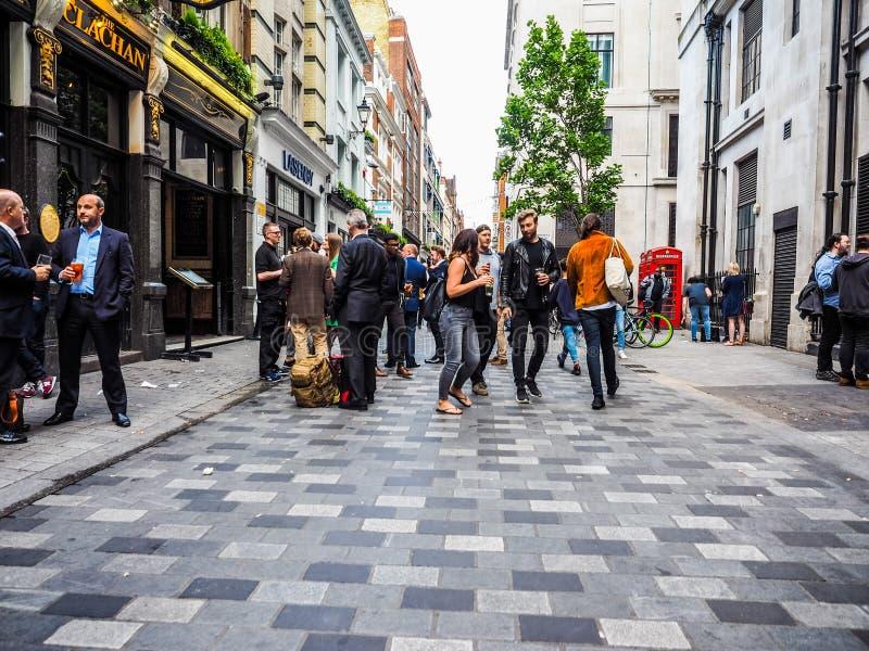 Les gens à Londres centrale, hdr photo stock