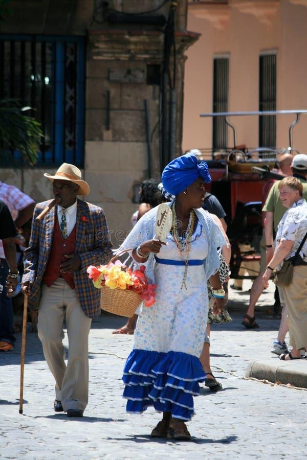 Les gens à vieille La Havane, Cuba images stock