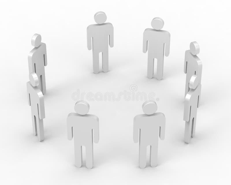les gens 3d en cercle photo libre de droits