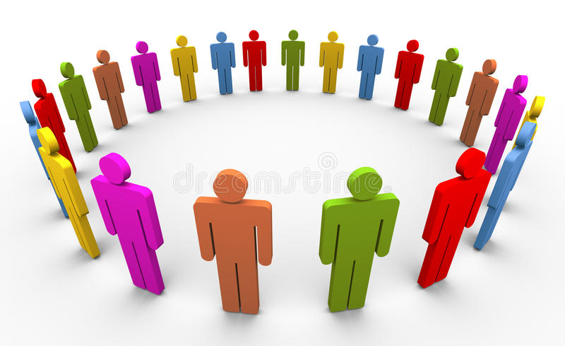 les gens 3d en cercle illustration de vecteur