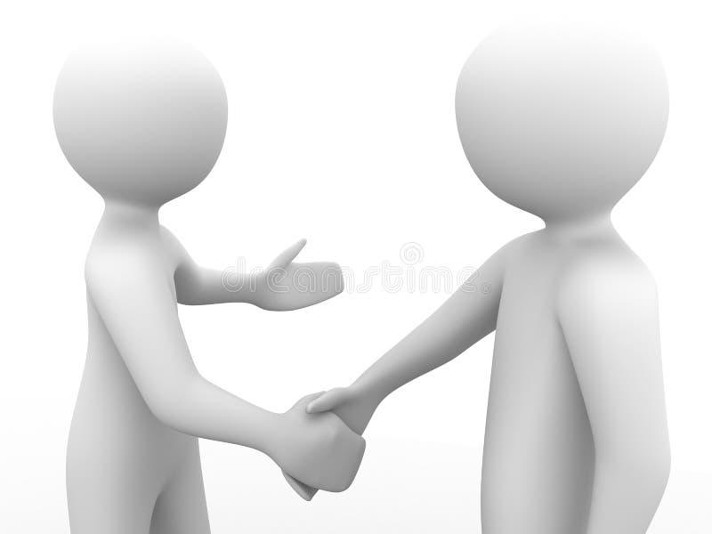 les gens 3d se serrant la main illustration libre de droits