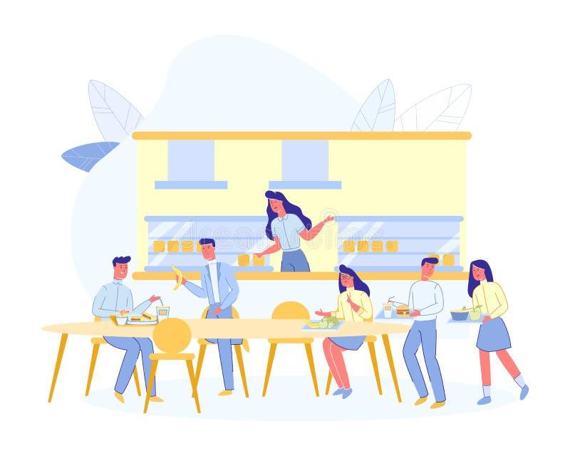 Les gens au Café, au Café House ou au Espresso Bar illustration libre de droits