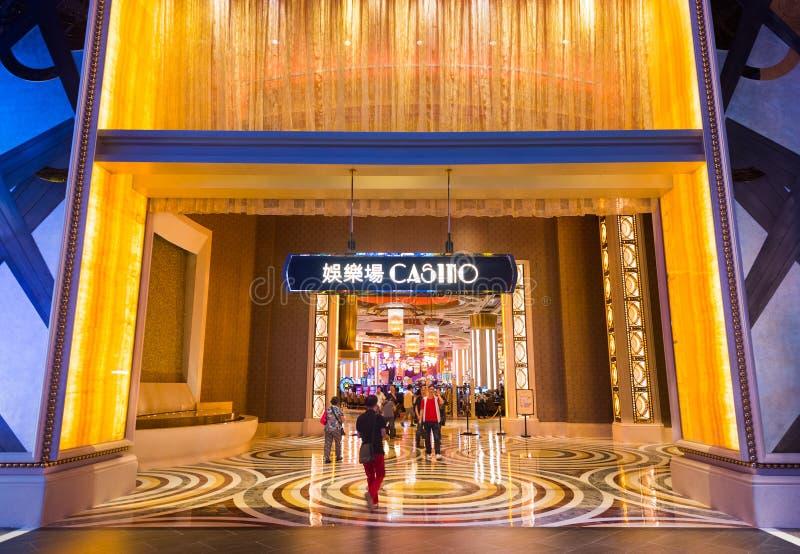 Les gens au casino de Macao photographie stock
