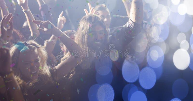 les gens au concert avec la transition photos stock