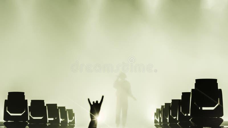 Les gens au concert de musique en direct photo stock