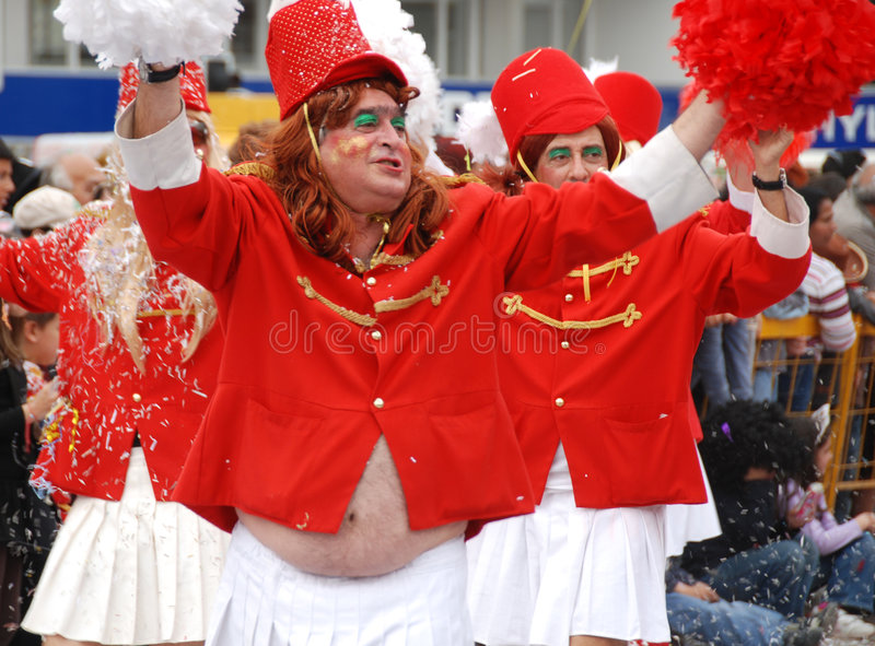 Les gens au défilé de carnaval image stock