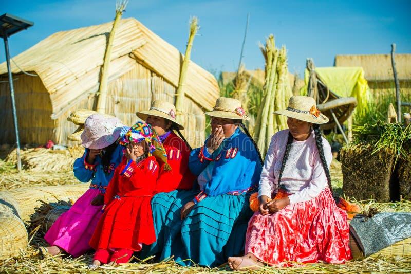 Les gens au Pérou image libre de droits